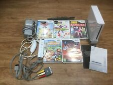 Wii White Console With 5 Games Just Dance Controller Nunchuck Tested UK SELLER