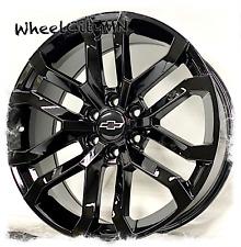 22 Inch Gloss Black 2021 Chevy Silverado 1500 Oe Replica 5924 Wheels 6x55 24