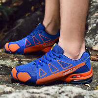 Men's Hiking Shoes Non Slip Outdoor Lace up Climbing Trail Running Shoes