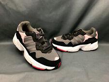 Adidas Yung-96 J Athletic Sneakers Grey Pink Grade-School Girls Size 5 NWOB!