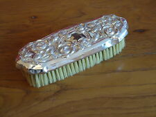 Vintage Silver Plated Style Clothes Brush Embossed /Dressing Table Grooming