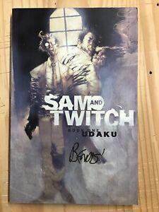 Sam & Twitch Book One Udaku Comic TPB Image Spawn SIGNED Brian Michael Bendis #1