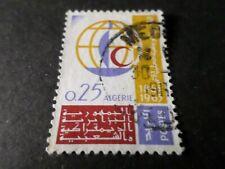ALGERIE, 1963, timbre 383 CROIX ROUGE, oblitéré CACHET ROND, VF used stamp