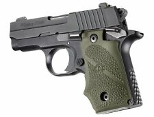 Hogue Grip For Sig Sauer P238 - Rubber with Finger Grooves OD Green 38001
