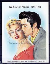 Montserrat 1995 MNH SS, Marilyn Monroe, Elvis Presley, Actors   -  M26