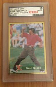 1997 Legends Sports Tiger Woods Rookie Masters Tournament  - Pro 10 Gem Mint!