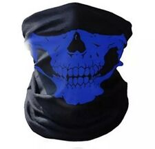 BLUE Ski Skull Face Mask Ghost Scarf Neck Warmer Snood Quad Bike Skeleton