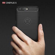 Luxury Carbon Fiber Texture Slim Soft TPU back Cover Case For One plus 5T 5 3 3T