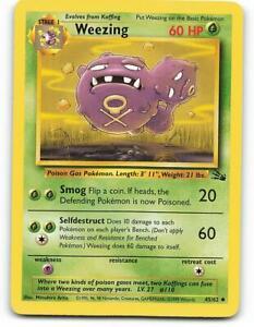 45/62 | Weezing | Fossil | Pokemon Card | Near Mint