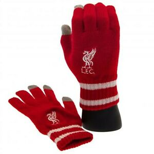 Liverpool FC FC Touchscreen Knitted Gloves ADULT RD Official Merchandise