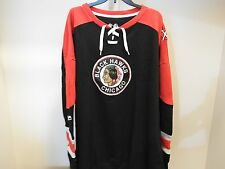 NHL Chicago Blackhawks Centre Lace-Up Sweatshirt Hockey Jersey New Mens 5XL