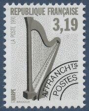 FRANCE 1992 PREOBLITERE N°220** Musique, Harpe, TTB,  precancelled MNH