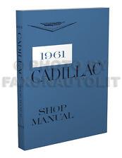 1961 Cadillac Repair Shop Manual 61 Deville Eldorado Fleetwood Series 62 68 75