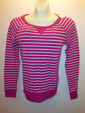 Abercrombie & Fitch Women Long Sleeve T Shirt, Shannon, Pink Stripes Extra Small