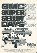 1981 GMC Truck - Jimmy Rally Van -  Classic Vintage Advertisement Ad H99