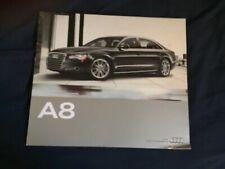 2011 Audi A8 USA 54 Page Color Brochure Catalog Prospekt