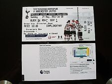 Tottenham Hotspur v Manchester United Ticket Last match at White Hart Lane.