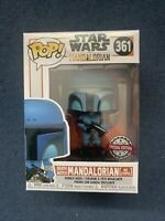 VERY RARE STAR WARS MANDALORIAN DEATH WATCH NO STRIPES EXCLUSIVE FUNKO POP