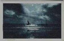 AK SW Ostseebad Stolpmünde - Morgengrauen - Segelschiffe auf der See 1924
