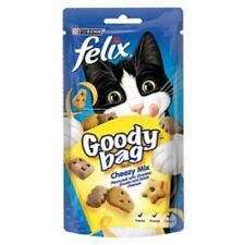 Felix Goody Bag Cat Treats Cheezy Mix, Picnic Mix and Mix Grill 60g or 60g x8