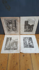 The Life of Christ x4 Antique Engravings,1811 - The Resurrection, Peter and John