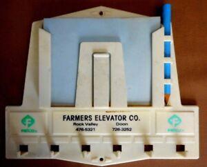 Vintage Plastic Felco Advertising Farmers Elevator Farm Doon Iowa Rock Valley