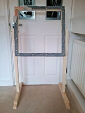 Rug hooking frame / Punch needle frame  and stand