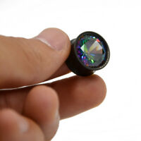 Colorful Aurora Zircon Ear Tunnel Plugs Piercing Gauges Expander Body Jewelry