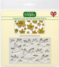 Katy Sue MAPLE LEAVES Embellishment Silicone Sugarcraft Topper Mould Arts Crafts