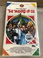The Wizard of Oz VHS 1985 MGM Brand New SEALED VERY RARE. SEE PICTURES THANKS