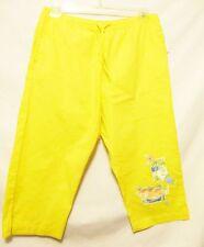 ALLYSON WHITMORE Petite Women's Capri Style Pants Sz PL Yellow Embroidered New