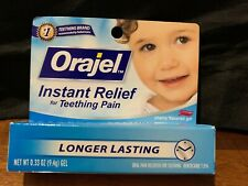 Orajel Instant Relief For Teething Pain Longer Lasting, Cherry (.33 oz) EXP 8/19