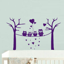 Wall Decal Vinyl Sticker Decor Nursery Kids Baby Owl Baloons Bubbles Funny Z733
