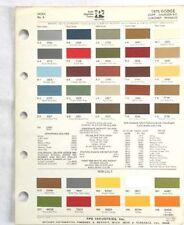 1975 DODGE PPG  COLOR PAINT CHIP CHART ALL MODELS ORIGINAL MOPAR
