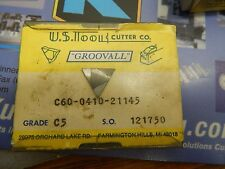 """10 US Tool & Cutter Co..041"""" Wide C5 Carbide Groove Inserts"""