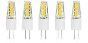 5pack G4 2WLED Light Bulbs 3000K /6000K Lighting Non-Dimmable Landscape LED Bulb