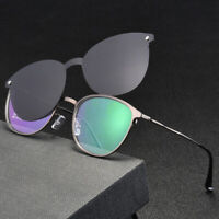 Magnetic Polarized Clip-on Sunglasses Eyeglass Frames Spectacles  Business Mens