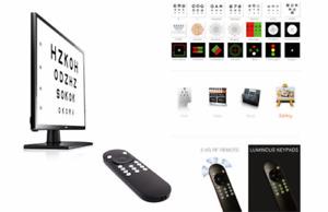 Elite Digital Eye Chart Vision Optics Visual Acuity Software Chart /w Remote