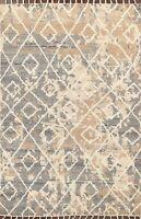 Geometric Modern Moroccan Oriental Area Rug Hand-knotted Plush Wool 5x8 Carpet