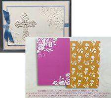Brenda Walton BORDER BLOOMS & GARDEN FLORAL Sizzix embossing folder set 659625