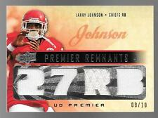 2008 Upper Deck Premier Remnants 4 #LJ Larry Johnson Quad Jersey #09/10