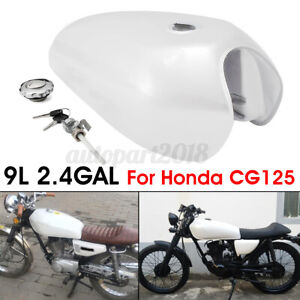 9L 2.4 Gal Motorcycle Vintage Fuel Gas Tank Cover For Honda CG125 Cafe Racer AU