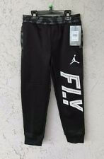 NWT $42 NIKE JUMPMAN Youth Boys Sz 7 Basketball Warm-Up Fleece Pants Black/White