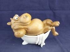 More details for ceramic comical hippo in the bath figure.