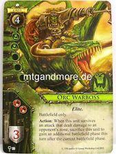 Warhammer Invasion - 1x Orc Warboss  #093 - The Ruinous Hordes
