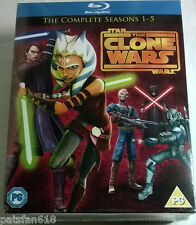 STAR WARS THE CLONE WARS COMPLETE SEASONS 1-5 New BLU-RAY 1 2 3 4 5 TV series