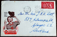 GB Scouts First Day of Jamboree Cover. (1st Aug 1957) Sutton-CF Slogan Canc.(Se5