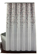 Lush Decor, Blush and Gray Weeping Flower Shower Curtain-Fabric Floral