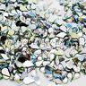 1000 Drop Shaped Rhinestones Acrylic Gems Silver Flat Back Teardrop CLEAR or AB