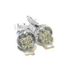 PEUGEOT 106 Bianco 4-LED XENON Bright GHIACCIO LATO FASCIO LUMINOSO LAMPADINE COPPIA Upgrade
